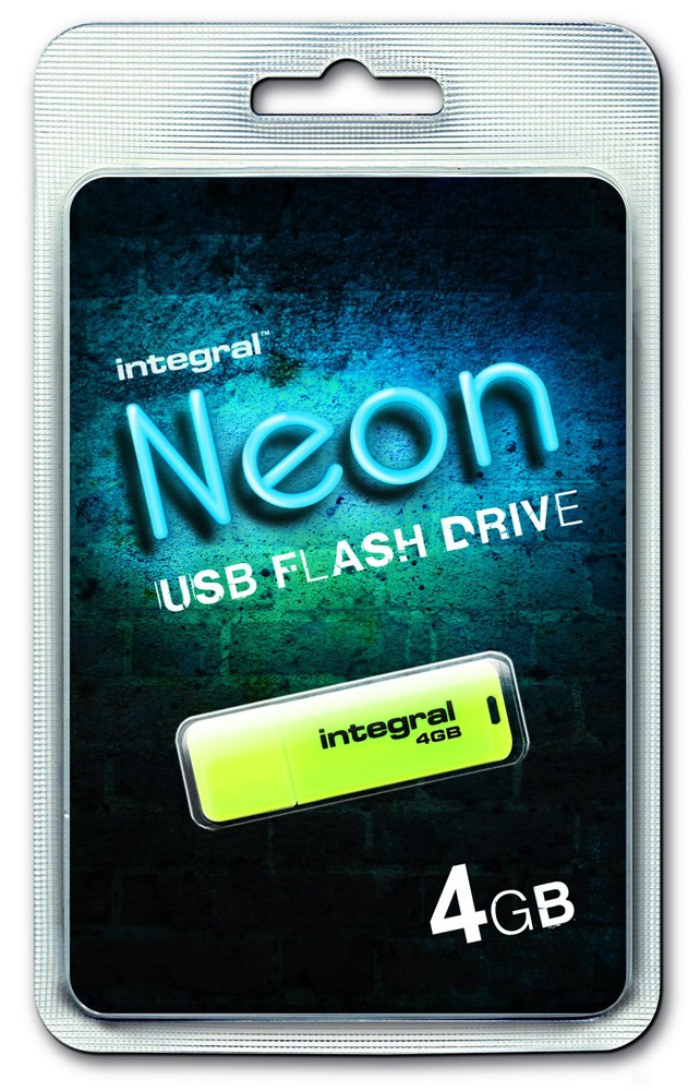 INTEGRAL - NEON JAUNE 4 GB