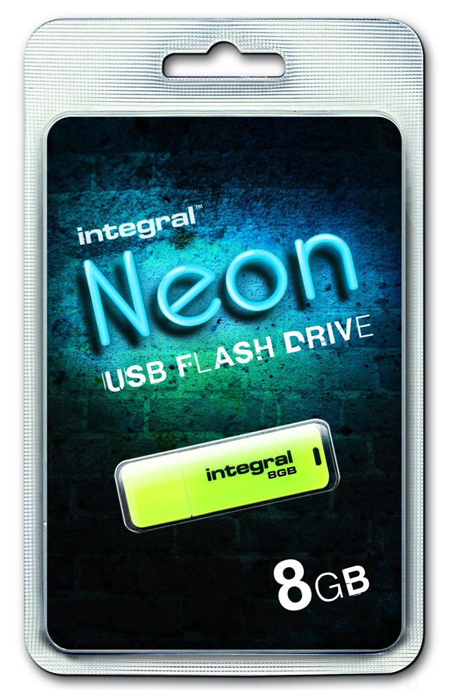INTEGRAL - NEON JAUNE 8 GB