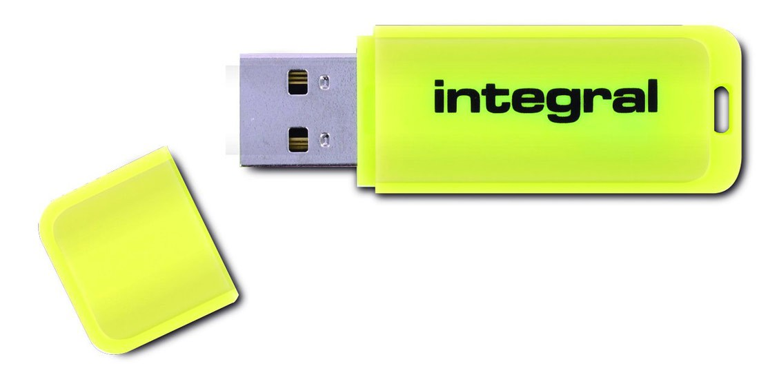 INTEGRAL - FLUO JAUNE 16 GB