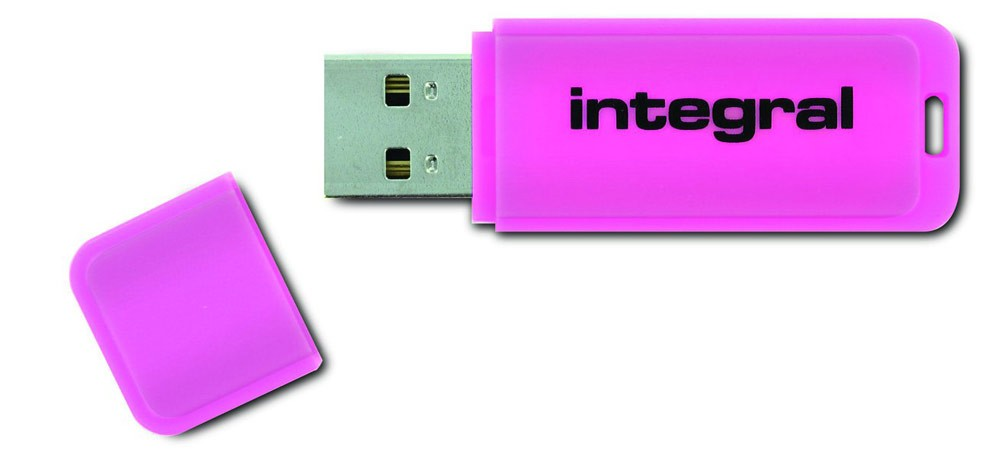 INTEGRAL - FLUO ROSE 4 GB