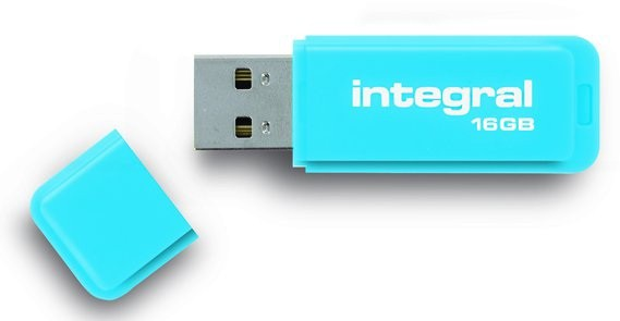INTEGRAL - FLUO BLEU 16 GB
