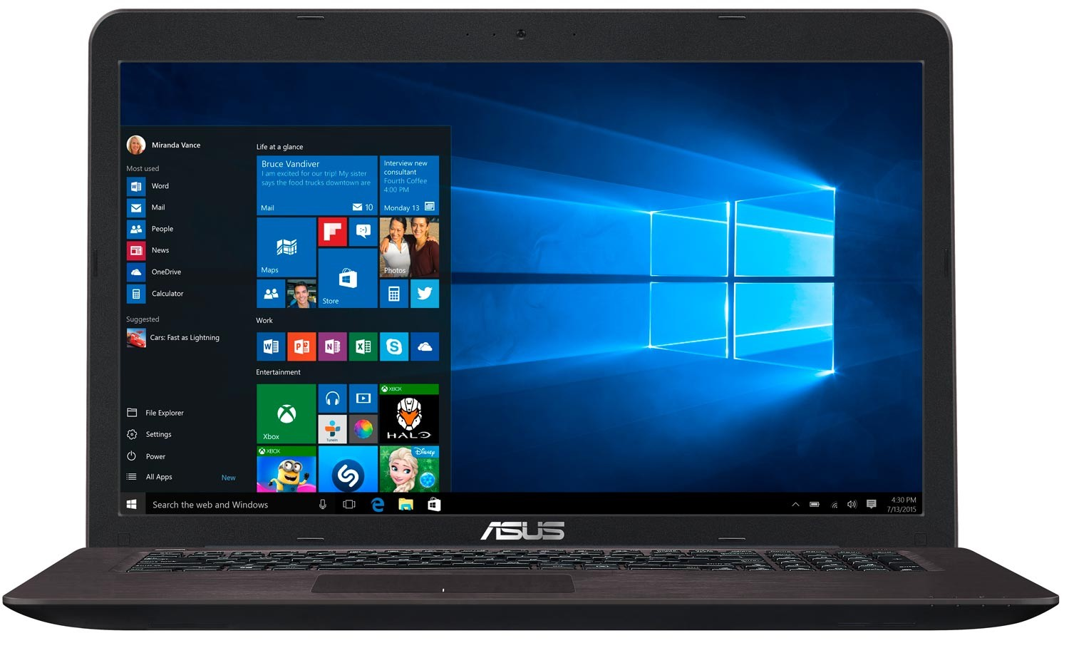 ASUS - X756UB-TY056T - 17.3 pouces - Intel Core i7 - Mémoire vive 8 Go - Disque dur 1 To - Windows 10
