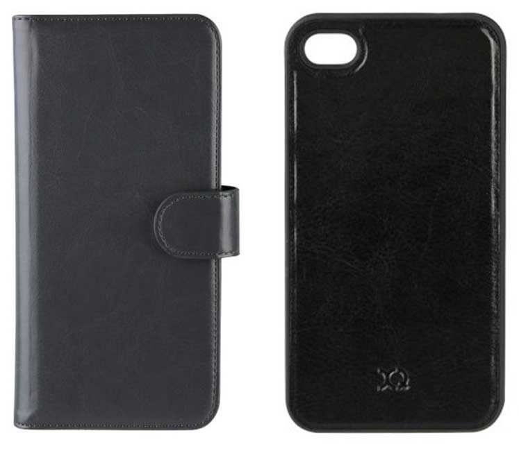 XQISIT - ENS FOLIO+COQUE IPHONE 4/4 S