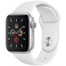 APPLE Watch Series 5 GPS 40 mm Silver / Bracelet Silicone Blanc - MWV 62 NF/A