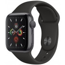 Apple Watch Series 5 GPS 40 mm Gris Sidéral / Bracelet Silicone Noir - MWV 82 NF/A