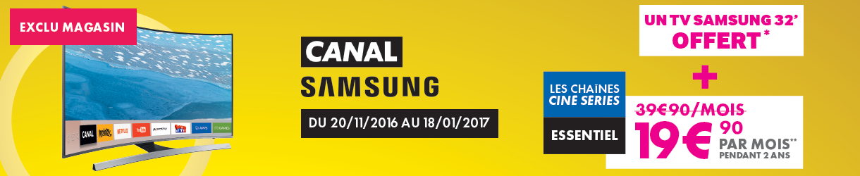 Offre Samsung & Canal +