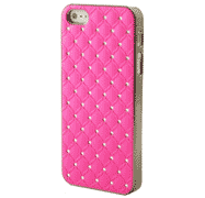 coque Iphone rose matelassée