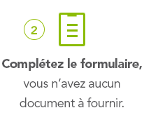 2° Complétez le formulaire